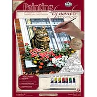 """Cat In The Window - Paint By Number Kit Artist Canvas Series 9""""X12"""""""