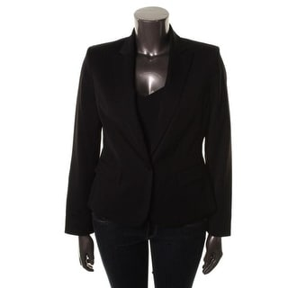 Anne Klein Womens Fitted Long Sleeves One-Button Blazer - 10