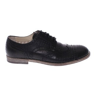 Dolce & Gabbana Black Leather Wingtip Formal Shoes - 40
