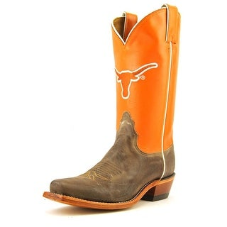Nocona Texas Vintage Cow Women Round Toe Leather Orange Western Boot