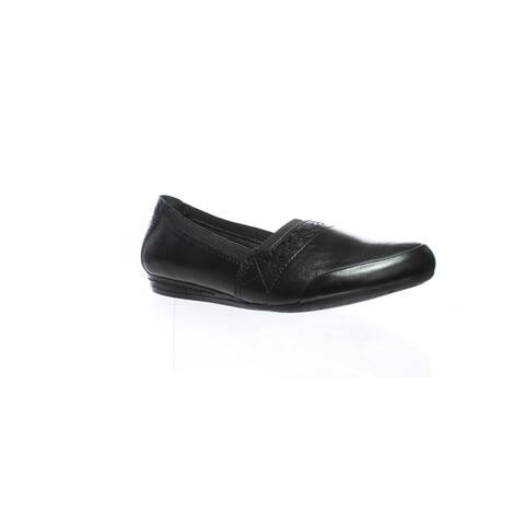 Rockport Womens Gigi Black Flats Size 7 (AA,N)