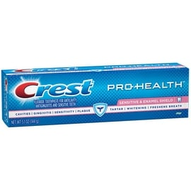 Crest Pro-Health Sensitive + Enamel Shield Fluoride Toothpaste, Mint 5.1 oz