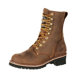 Georgia Boot Work Mens ST Waterproof Logger Insulated Brown