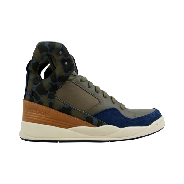 99f39f126144e9 ... Women s Athletic Shoes. Reebok Alicia Keys Court Olive Green-Blue-Tan  M41271 ...