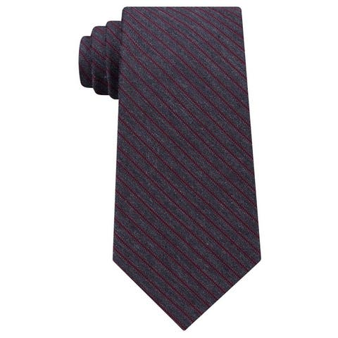 Michael Kors Mens Striped Self-Tied Necktie - One Size