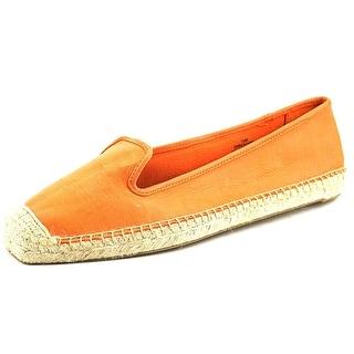 Nine West Beachin It Women Square Toe Leather Orange Espadrille
