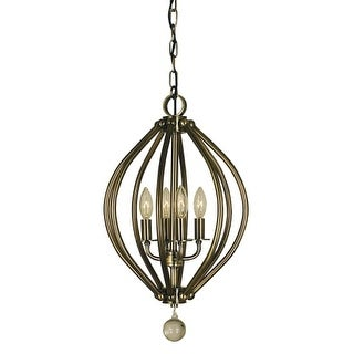 "Framburg 4344 Dewdrop 4 Light 12"" Wide Taper Candle Pendant"