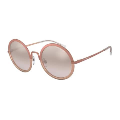 Emporio Armani EA2077 31678Z 52 Matte Pink/matte Rose Gold Woman Round Sunglasses