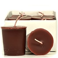 Leather Pipe and Woods Votive Candles Votive Candles Pack: 12 per box 1.75 in. diameter x 2 in. tall