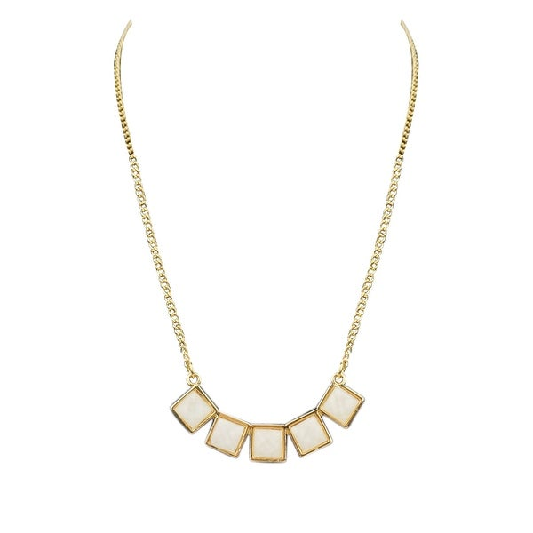 max & MO Gold with Pearl Inlay Necklace - gold-pearl
