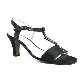 New David Tate Womens Stargaze-001 Black T-Strap Sandals Size 8
