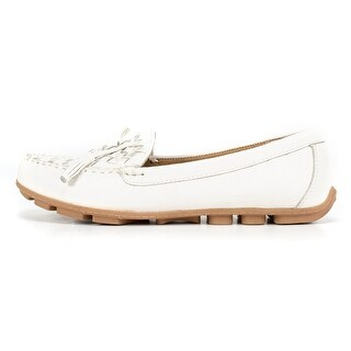 White Mountain Womens Sprinkler Leather Closed Toe Loafers