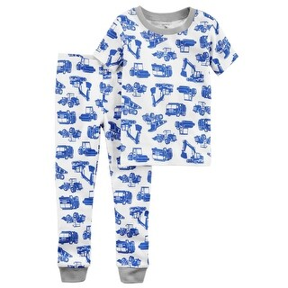 Carter's Baby Boys' 2-Piece Construction Snug Fit Cotton PJs - Blue
