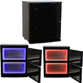 InkBed Black High Capacity Double-Decker Hot Towel Cabinet & Ultraviolet Sterilizer