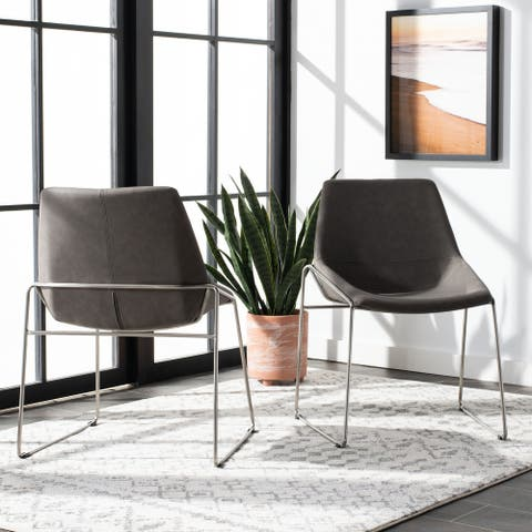 "Safavieh Alexis Mid Century Dining Chair (Set of 2) - 25"" x 24"" x 33.3"" - 25"" x 24"" x 33.3"""