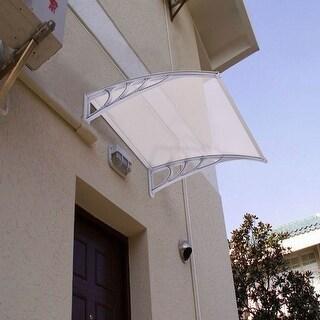 Costway 40''x 40'' Window Awning Door Canopy Outdoor Front Door