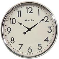 Westclox 8795411 32041AW 12 in. Round Wall Clock, Retro White