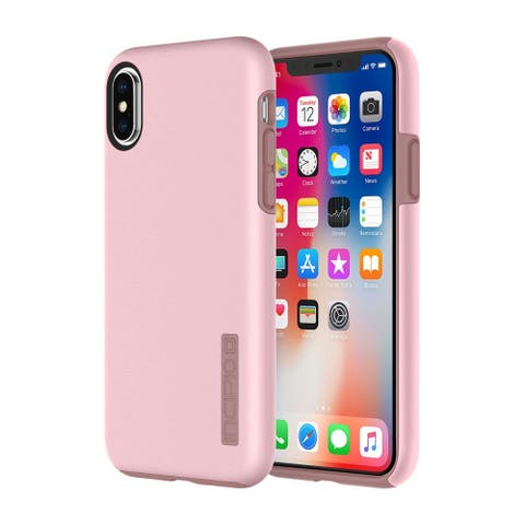 Incipio DualPro for iPhone X - Rose Quartz - Black