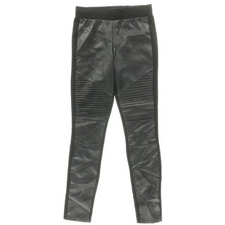 Aqua Womens Skinny Pants Faux Leather Pinktuck