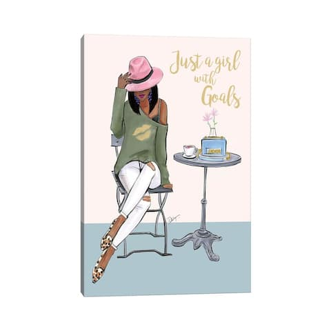 "iCanvas ""Just A Girl With Goals - Dark Skin"" by Rongrong DeVoe Canvas Print"