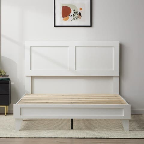Brookside Lily Double Framed Wood Platform Bed with Headboard