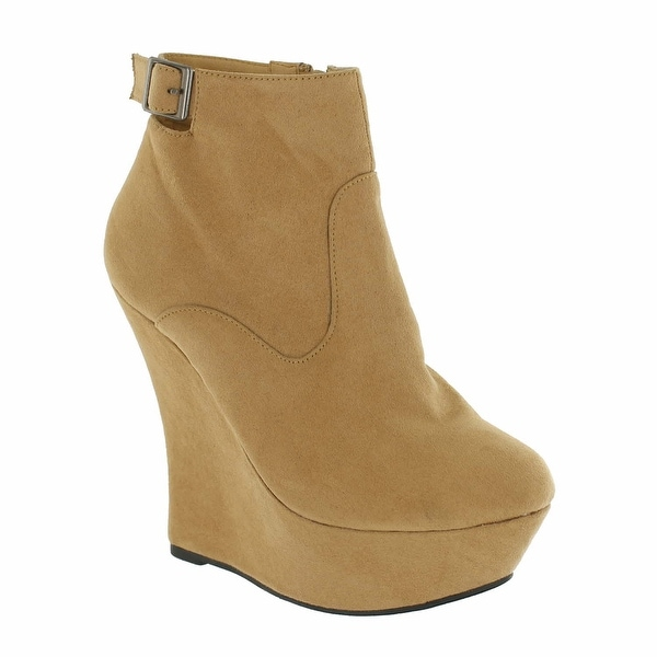 Red Circle Footwear 'Flint' Boot Wedge with Ankle Strap