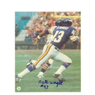 Autographed Nate Wright Minnesota Vikings 8x10 Photo