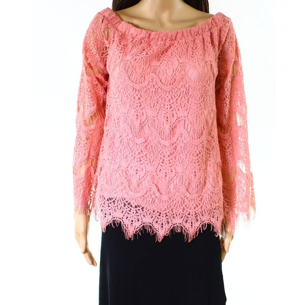 05c72f6c ... Tees. Miss Chievous NEW Bridal Rose Pink Womens Size Medium M Lace  Blouse