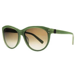 Valentino V 642/S 315 Green Oval Sunglasses