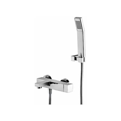 WS Bath Collections Elle EL 023 Elle Tub Faucet and Trim with Single Function Hand Shower -