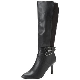 CL by Laundry Womens Show Biz Knee-High Boots Faux Leather Belted
