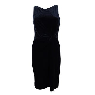 Calvin Klein Women's Velvet Twist-Knot V-Back Dress