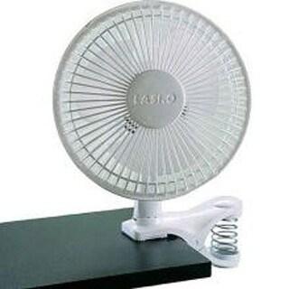 Lasko 2004W 6-Inch 2-Speed White Clip Fan