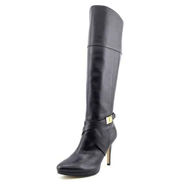 Marc Fisher Tracey 3 Women Pointed Toe Leather Black Knee High Boot
