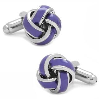 Lavender Knot Cufflinks