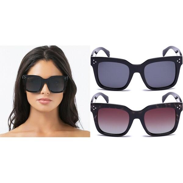 6cf8d2a675064 PRIVÉ REVAUX The Heroine Handcrafted Designer Oversized Polarized Sunglasses  For Women