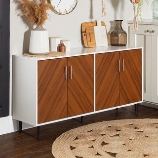 Carson Carrington Cassandra Modern White and Acorn Two-tone Buffet