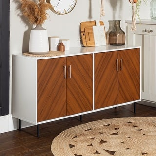 Link to Carson Carrington Cassandra Modern Two-tone Bookmatch Buffet Similar Items in Dining Room & Bar Furniture