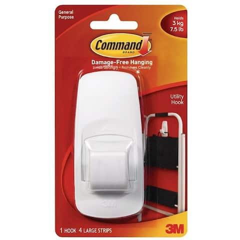 Command Jumbo Plastic Hook with Adhesive Strips 1 ea