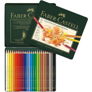 Polychromos Colored Pencil Set In Metal Tin 24pc-