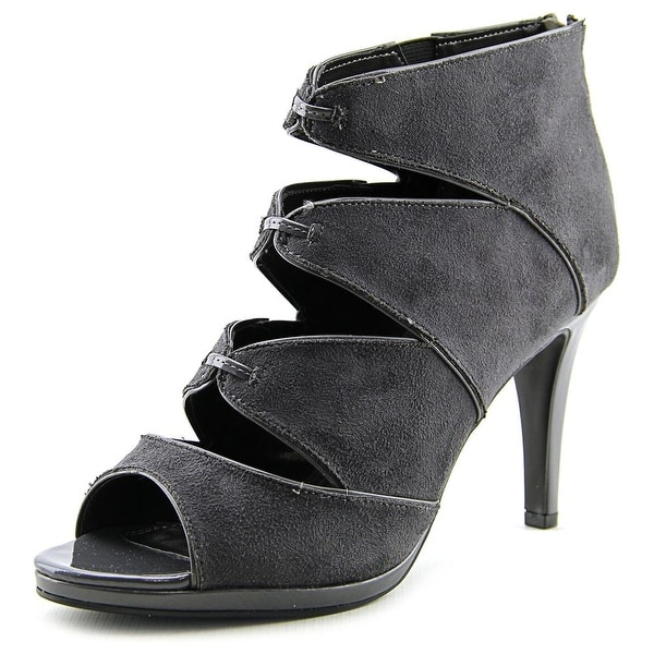 Impo Sassy Women Open-Toe Synthetic Gray Heels