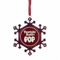 Silver Plated Pink Snowflake Tootsie Roll Pop Candy Logo Christmas