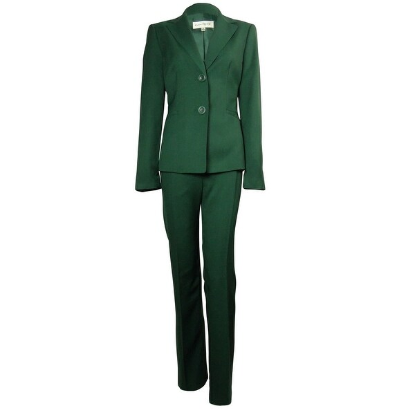 Shop Evan Picone Women S Madison Ave Pant Suit Laurel Green Free