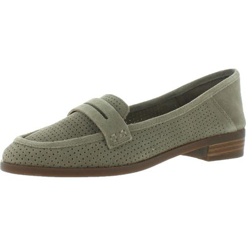 Lucky Brand Womens Caylonp Loafers Suede Perforated - Stonerock/Oiled Suede