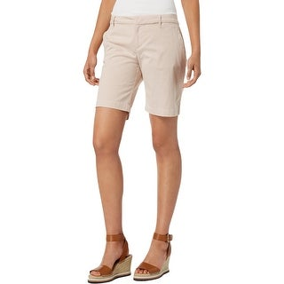 Tommy Hilfiger Womens Hollywood Khaki, Chino Shorts Striped Flat Front