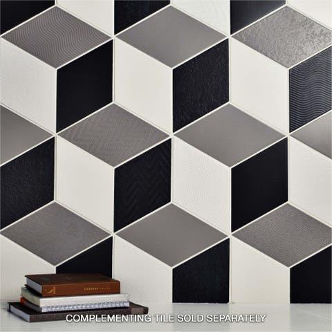 SomerTile 5.5x9.5-inch Rombo White Porcelain Floor and Wall Tile