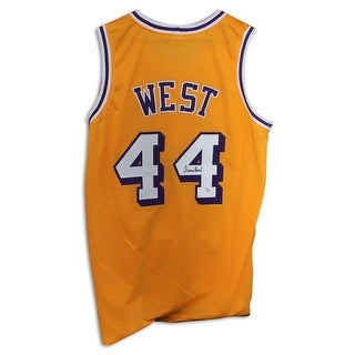 Jerry West Los Angeles Lakers Autographed Gold Jersey