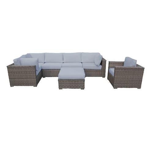 Cozy Corner Patios Garden Furniture 7 Seater Sectional Patio Furniture  7 Piece Outdoor Sectional