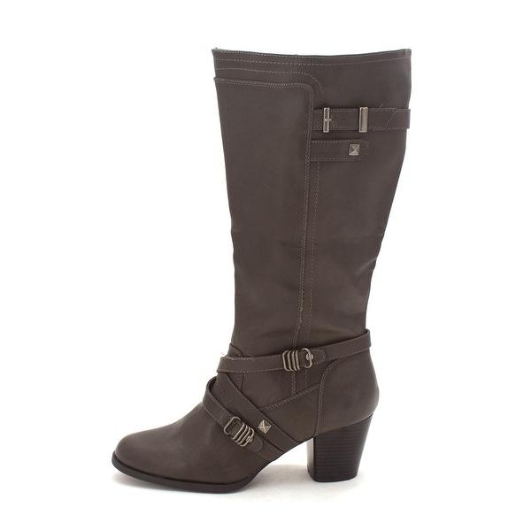 Rialto Womens Claudette Wide Calf Almond Toe Knee High Fashion Boots - 11