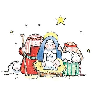 """Penny Black Mounted Rubber Stamp 3""""X4""""-The Manger"""